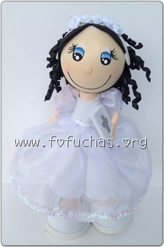 First Comunion/ Baptism 3d Fofucha(o) Foam Doll on Etsy, $35.00 #First Comunion #baptism #fofuchas