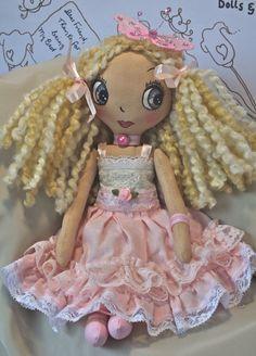 Handmade Cloth Doll - Pippa a Lil' Character Doll