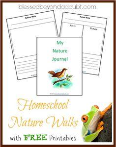 Free Homeschool Nature Walk Printables