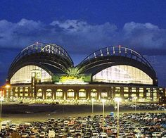 Miller Park, home of the Milwaukee Brewers baseball team