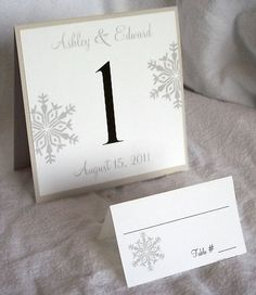 Table number - card