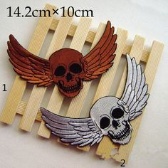 Skull patch hat patches back patch Punk patch Wing patch personality patch iron on patch sew on patch patch patches (A73 patches patch iron on patch sew on patch applique patch design patch Skull patch Punk patch Hip-Hop patch back patch iron on patches Embroidery Wholesale