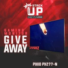 Win Pixio 144Hz Gaming Monitor