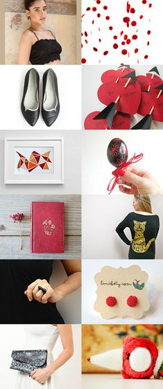 Black   Red by Leda Design on Etsy--Pinned with TreasuryPin.com