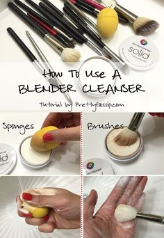 How to Clean Makeup Brush AND Sponge with a SOLID CLEANSER. Tutorial by #PrettyGossip.