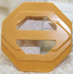 Bakelite Belt Buckle Yellow Butterscotch by CranberryManor on Etsy
