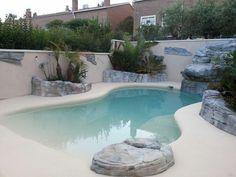 Swimming Pool Pond, Swimming Pool Landscaping, Natural Swimming Pools, Swimming Pool Designs, Backyard Pool Designs, Small Backyard Pools, Small Pools, Modern Backyard, Indoor Pools