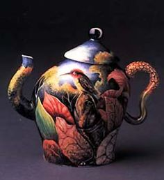Kurt Weiser's intricate china painting. I am very excited to attend Kurt's workshop at the workhouse next week!