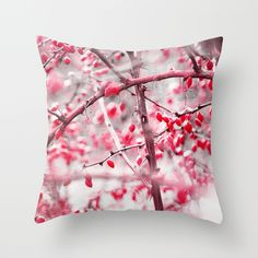 Winter Berries 2 Throw Pillow