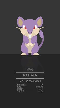 Rattata by WEAPONIX on deviantART
