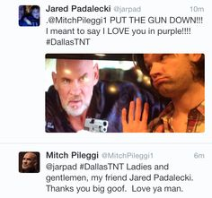 Fun with Jared on Twitter.