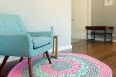 Custom crochet rug by Habitue Design Decor, Floor Rugs, Kids Rugs, Living Room Decor, Home Decor, Recycled Cotton, Handmade Rugs, Rugs, Flooring