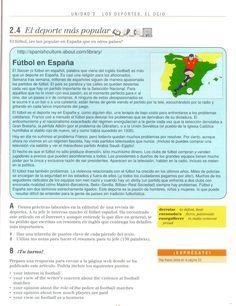 El fútbol en España (CE)--Reading