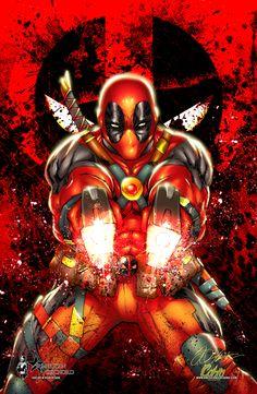 #Deadpool #Fan #Art. (Deadpool guns and metal) By: Shelby Robinson. (THE * 5 * STÅR * ÅWARD * OF: * AW YEAH, IT'S MAJOR ÅWESOMENESS!!!™)[THANK U 4 PINNING!!!<·><]<©>ÅÅÅ+(OB4E)