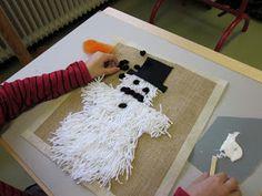 Kaarisillan käsityö: Ryijylumiukkoja Doll Crafts, Crafts To Do, Hobbies And Crafts, Crafts For Kids, Arts And Crafts, Rya Rug, Textile Fabrics, Winter Art, Handicraft