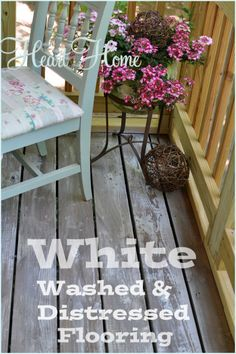 $33.00 for white washed & distressed porch floors-