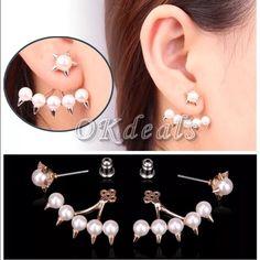 ✨Pair of Pearlette Ear Cuff Earrings✨ Beautiful brand new gold plated Pearlette ear cuff earrings! Jewelry Earrings