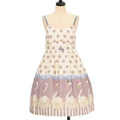 スワンプリントノースリーブワンピース  ロリィタファッション Emily Temple cute | エミリーテンプルキュート