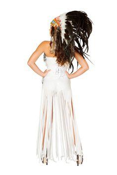Sexy Roma Cherokee Mistress Indian Chief Halloween Costume W/WO HEADDRESS 4476