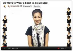 25 ways to wear a scarf.