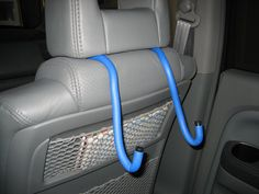 """Make your own portable DVD player holder for your car. Purchase """"kwuik twists"""" from Lowes. Great for propping up am ipad."""