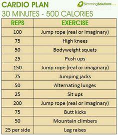 500 calorie workout