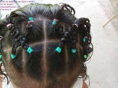 Resultado de imagen para peinados ligas para niña