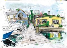 """From everyday moments to historic events, Seattle Times artist Gabriel Campanario captures life in the Northwest in his popular weekly column and blog, """"The Seattle Sketcher."""" This heirloom-quality bo"""