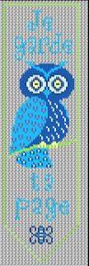 free bookmark owl cross stitch chart
