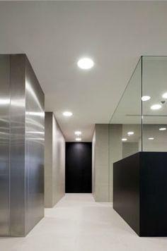 Minimalist, clean lines at the Belgacom office, Brussels _ by Stein van Rossem _