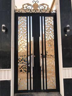 Inside Doors For Sale Steel Gate Design, Front Gate Design, Door Gate Design, Metal Gates, Wrought Iron Gates, Contemporary Doors, Modern Door, Window Grill Design Modern, Modern Design
