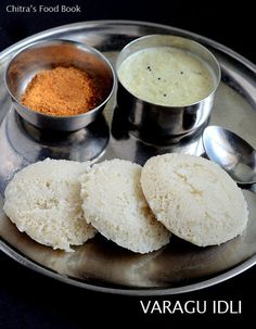Chitra's Food Book: Varagu Idli Recipe/Kodo Millet Idli Dosa-Millet Re. Millet Recipes, Veg Recipes, Indian Food Recipes, Gourmet Recipes, Cooking Recipes, Healthy Recipes, Recipies, Recipes Dinner, Vegetarian Recipes