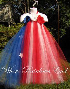 Stars & Stripes - Fourth of July - Pageant Tutu Dress size 4t, 5t, girls 6
