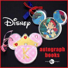 Super cute Disney Autograph Books using the @Cricut®®® by @Kelly Teske Goldsworthy Teske Goldsworthy Hedgespeth