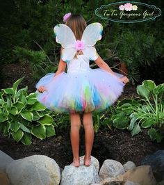 Magic Rainbow Fairy Tutu and Wings Fairy Halloween Costumes, Tutu Costumes, First Halloween, Halloween Ideas, Costume Ideas, Toddler Fairy Costume, Toddler Tutu, Toddler Girls, Rainbow Fairies