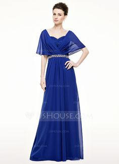 [US$ 149.99] A-Line/Princess Sweetheart Floor-Length Chiffon Mother of the Bride Dress With Ruffle Lace Beading Sequins