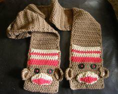 DIY Crochet pattern for wearable art sock monkey by dianelangan