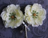 White Mini Flower Hair Accessory Set of 2.