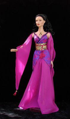 Inara Serra -  ooak costume from Firefly for 16 Tonner doll