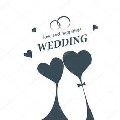 Letöltés - Vektor logo esküvő — Stock Illusztráció Wedding Logos, Branding, Illustration, Happy, Brand Management, Illustrations, Brand Identity, Happiness, Being Happy