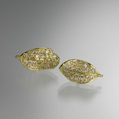 Pave Boxwood Earrings,John Iversen