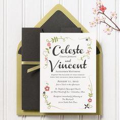 Le Jardin Wedding Invitation