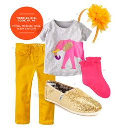 Toddler Girl Style: Yellow, Magenta, Gray, White and Gold - Momtastic