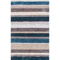 Don Blue Multi 9 ft. x 12 ft. Area Rug