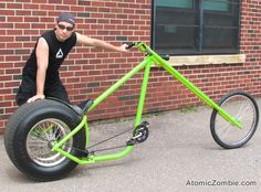 You can build your own OverKill chopper in a few days or less. Velo Design, Bicycle Design, Futuristic Motorcycle, Motorcycle Bike, Bmx Bicycle, Custom Motorcycles, Custom Bikes, Chopper Frames, Lowrider Bicycle