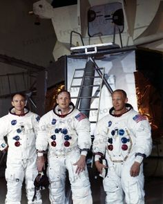 Apollo 11 astronauts Mike Collins, Neil Armstrong and Buzz Aldrin (Also an ExploreMars Advisory Board Member) at Kennedy Space Center less than a month prior to the July 1969 launch. Apollo Space Program, Nasa Space Program, Paul Dirac, Valentina Tereshkova, Apollo 11, Apollo Rocket, Neil Armstrong, Marie Curie, Humanismo Secular