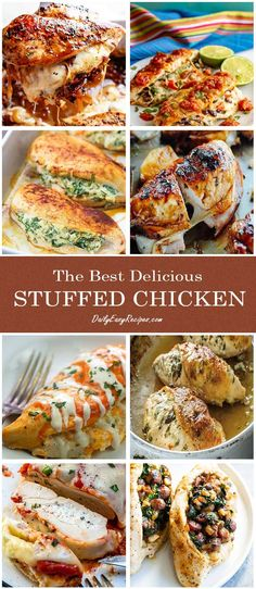 Collection of The Best Delicious Stuffed Chicken Recipes – Healthy Food: Recipes, food and diet, weight loss Healthy Chicken Recipes, Turkey Recipes, Cooking Recipes, Healthy Food, Great Recipes, Dinner Recipes, Favorite Recipes, Delicious Recipes, Dinner Ideas