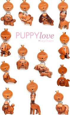 Cute leather dog keychains...see yours?