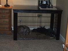 Extra Large Dog Crate Table Over - DIY