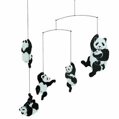 Amazon.com: Flensted Mobiles Nursery Mobiles, Panda Mobile: Baby